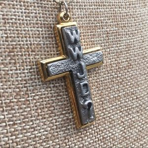 Vintage WWJD Cross Necklace